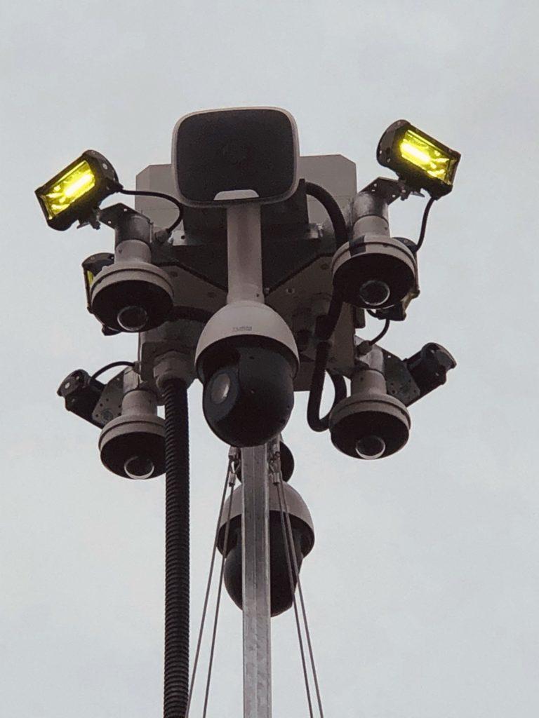 Baustellenüberwachung Systemkopf mit Lautsprechersystem